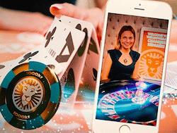 Spela live casino i mobilen hos LeoVegas