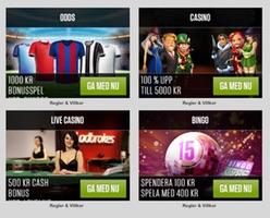 Odds, casino, bonus och free spins