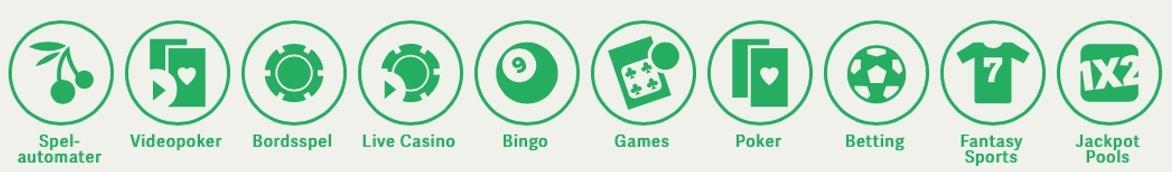 Poker, bingo, sport, odds och casino hos Paf