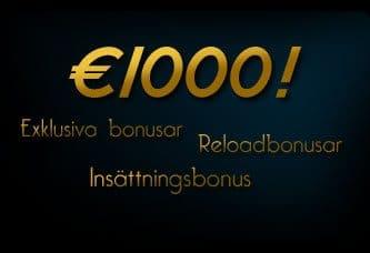 Bästa bonusar och erbjudanden