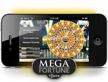 Spela Mega Fortune i mobilen!