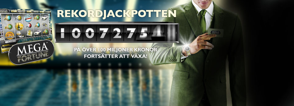 Mega Fortune på Mr Green - 100 miljoner jackpot