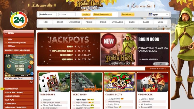 Robin Hood hos Bet24
