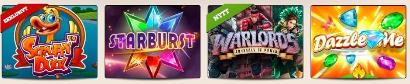 Några av många spel hos LeoVegas Casino