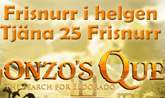 Tjäna ihop 25 free spins hos Paf på Gonzos Quest