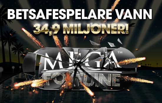 Norrman vann 34,9 miljoner på Mega Fotune Betsafe