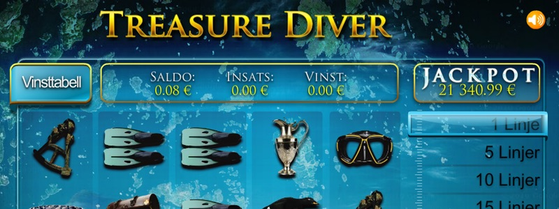 Treasure Diver hos Paf Casino