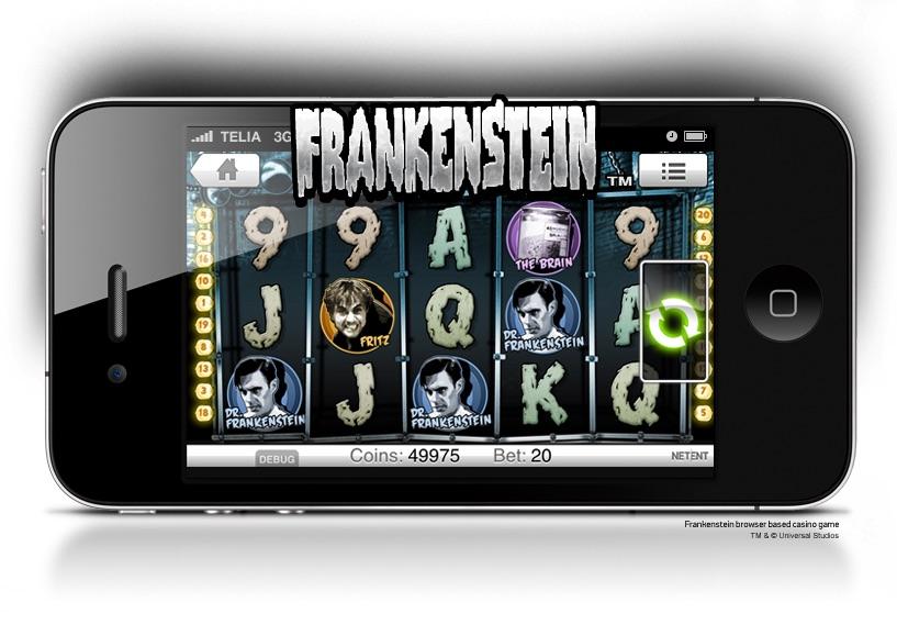 Frankenstein slot för mobila enheter
