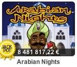 Hos Paf kan du spela Arabian Nights som just nu har en jackpott på över € 8 000 000