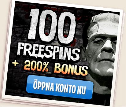 100 free spins hos LeoVegas Casino