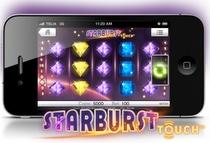 hos Leo Vegas kan du spela Starburst i mobilen.