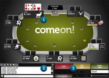ComeOn Casino har en bra pokerklient