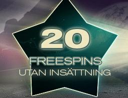 Få 20 free spins av Redbet