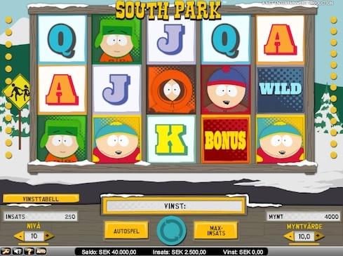 Tips på kampanjer för South Park sloten som lanserades idag