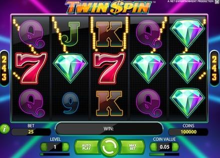 Läs om var du hittar free spins på nya sloten Twin Spin