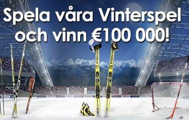 Besök Sverigeautomaten och läs om deras vinterspel där €100 000 ska lottas ut