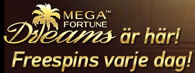 Paf ger freespins på Mega Fortune Dreams