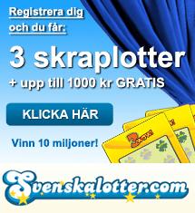 Få gratis skraplotter hos Svenskalotter