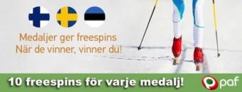 Paf ger freespins vid medaljer i skid-VM