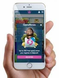 Casino Heroes i mobilen