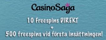 Bonus på CasinoSaga