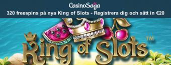 Nya kunder får freespins på King of Slots hos Casino Saga
