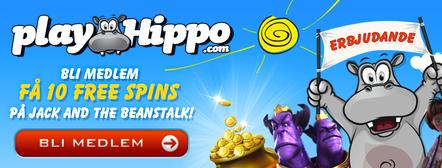 Se mer information om välkomstbonusen hos PlayHippo