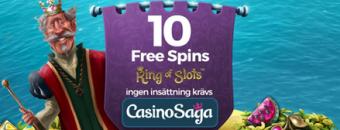 Läs mer om freespinserbjudandet hos Casino Saga