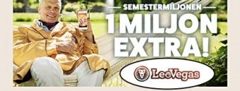 Läs om Semestermiljonen hos Leo Vegas