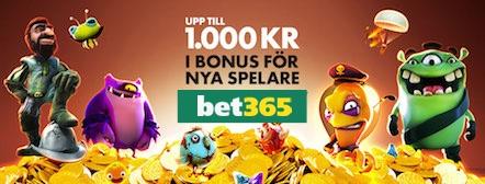 Stor bonus hos Bet365