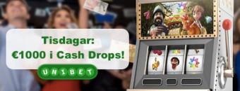 Läs mer om cash drop kampanjen hos unibet
