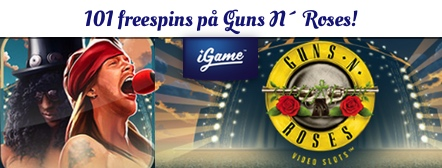 Freespins på Guns n Roses hos iGame