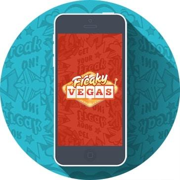 Spela på mobilen hos Freaky Vegas!