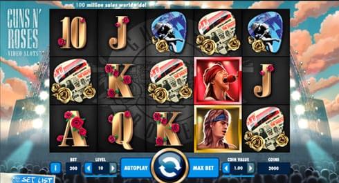 Spela denna sloten Guns N' Roses hos Unibet!