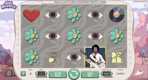 Videoslot med gitarrguden JImi Hendrix