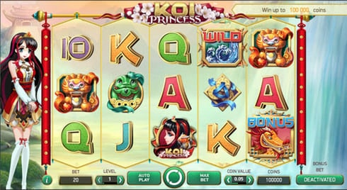 Netentertainments spel Koi Princess