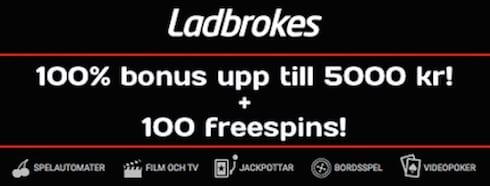Ladbrokes ger freespins