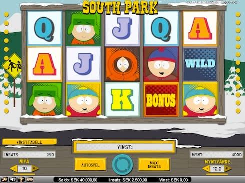 Massvis med bonusspel i sloten South Park