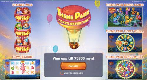Spela Theme Park hos Cashmio