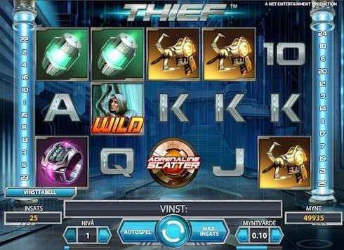Nu kan du spela Net Entertainments slot Thief hos Betsafe