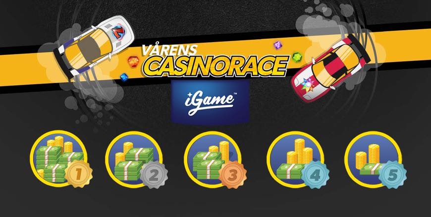 Klara, färdiga, snurra! Casinorace hos iGame Casino!