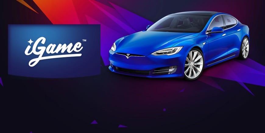 Vinn en Tesla Model S hos iGame Casino!