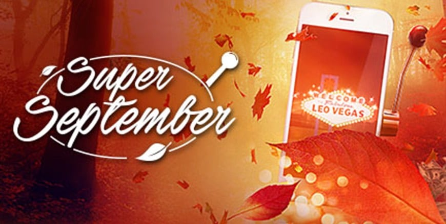 Super september hos LeoVegas