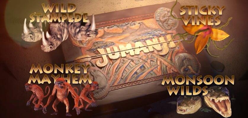 Freespins och bonus i Jumanji