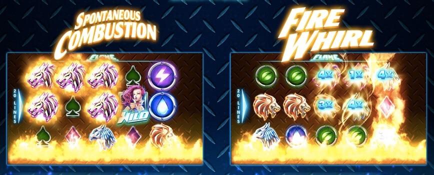 Massor av free spins och bonusar med extra vinster i Flame