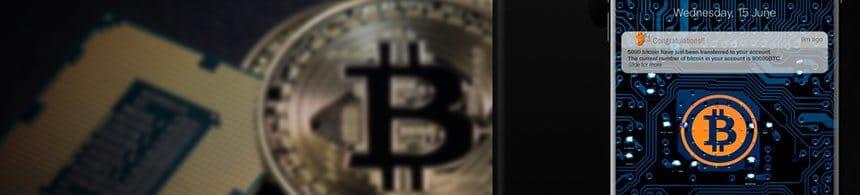 Gör en transaktion med Bitcoin
