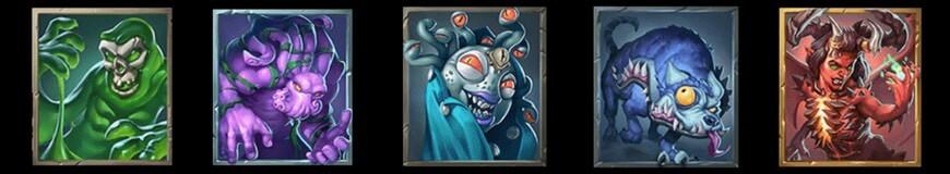 Skräckinjagande symboler i sloten Dark Vortex
