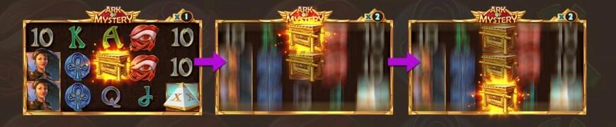 Guldkista som wild-symbol i Ark of Mystery
