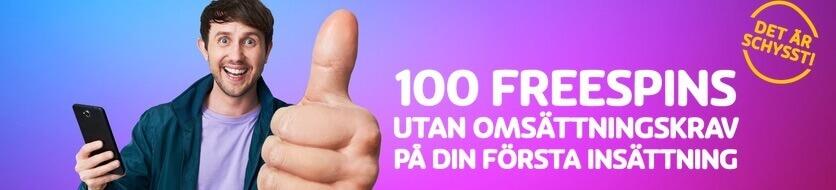 100 free spins hos PlayOJO