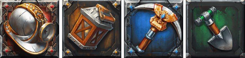 Dwarf Mine Symboler
